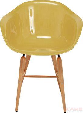 Stuhl mit Armlehne Forum Wood Mustard