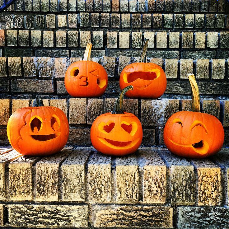happy halloween pumpkin carving emoticons emojis artsyfartsy - Pumpkin Halloween Decorations