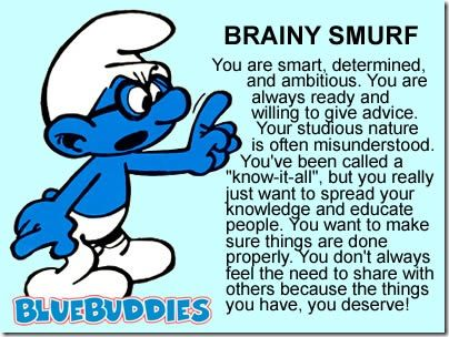 Brainy smurf Smurfs X Us Pinterest Sunglasses, Sweet