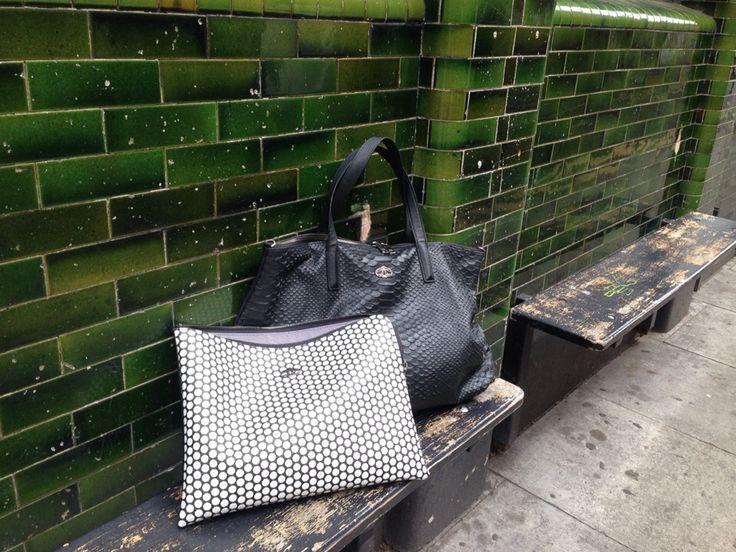 #street fashion Decke #duo sholderbag #london
