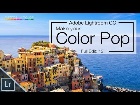 Lightroom 6 tutorial - Amazing color pop and Color Grading in Lightroom CC - YouTube
