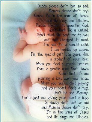 This poem has always brought tears to my eyes! Makes me think of all our babies in heaven. How beautiful heaven must be!