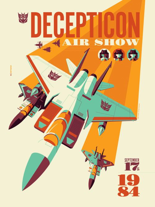 OMG Posters! » Archive » Transformers and Voltron Posters by Tom Whalen (Artist Copies Onsale Info)