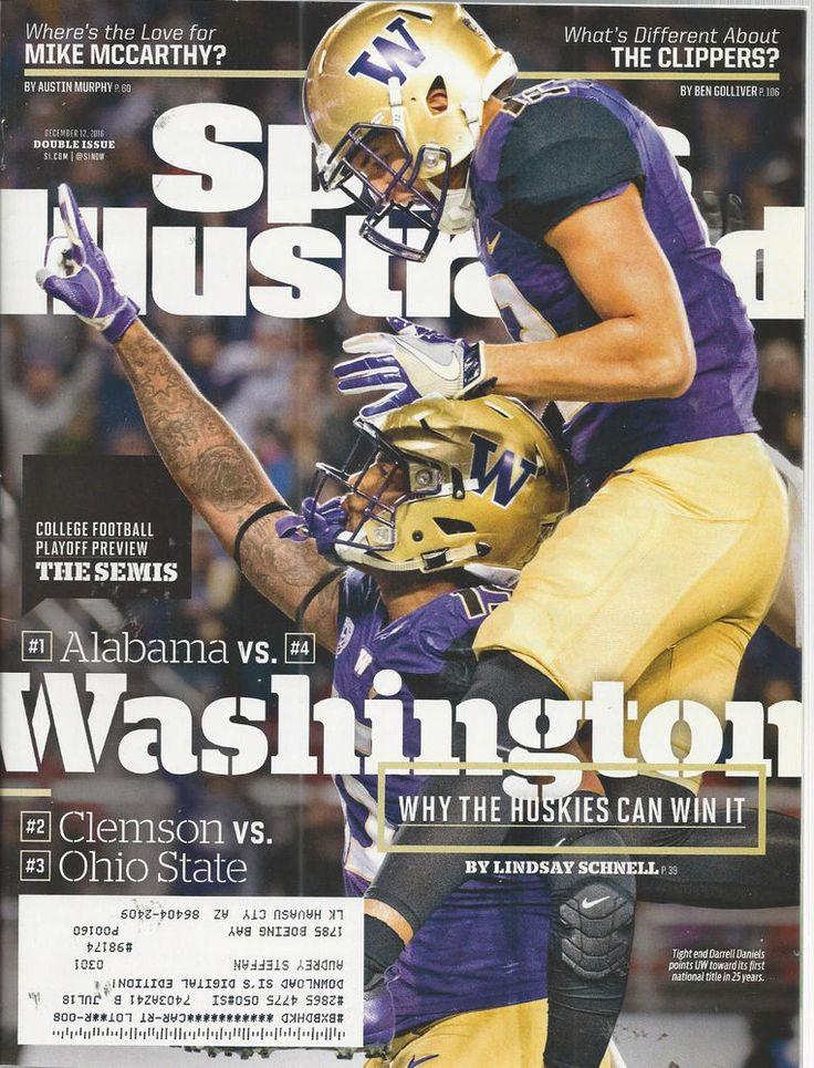 Darrell Daniels UW Huskies Football Sports llustrated Magazine December 12 2016 #doesnotapply