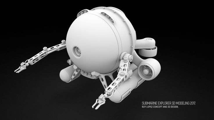 Submarine Deep Sea Explorer, Ruy Lopez on ArtStation at https://www.artstation.com/artwork/JzR0D