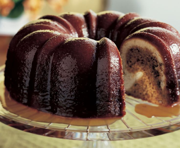 ~ bon appetite Pecan Molasses Bundt Cake with Bourbon Glaze try this and more pins @ https://www.pinterest.com/PinsByBecky/