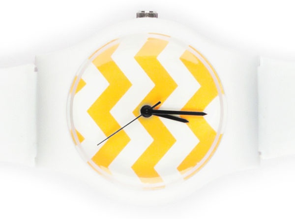 Watches_by_may28th_6-sixhundred: Fun Watches, Style, Colourful Watches, Chevron Watch, Accessories, Products, Yellow Chevron