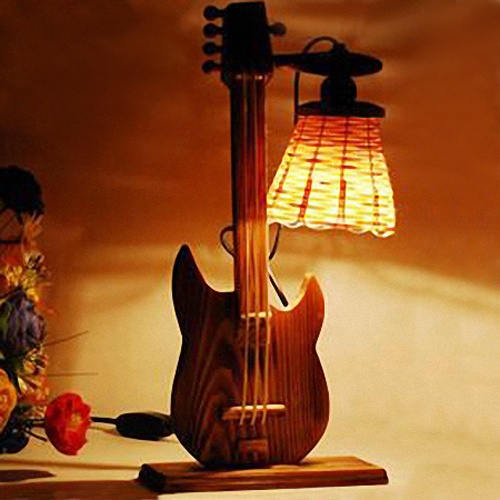 84 best guitar inspired lamps images on pinterest guitars lamps stylish guitar shape desk lamp kids night light aloadofball Image collections