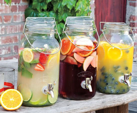 Great cocktail ideas for a bridal shower or summer BBQ.