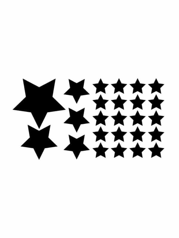 Väggdekor - Stjärnor passande till barnrummet i tavla.