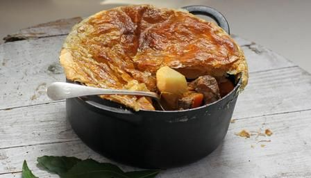 Scouse pie recipe - a thrifty lamb stew with a puff pasty topping for a winter family suppoer