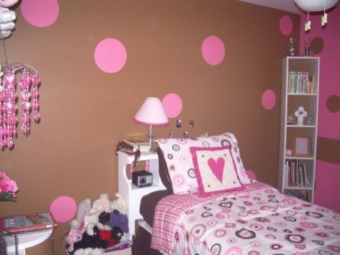 pink and brown nursery and bedroom decorating ideas. Interior Design Ideas. Home Design Ideas