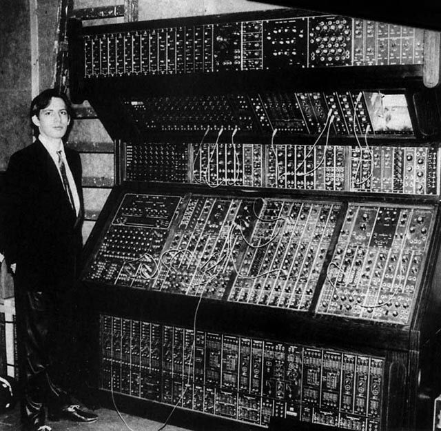 Hans Zimmer and his synthesizer, 1970. This was the birth of Hans Zimmer as a musician.