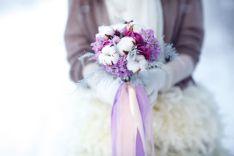 Winter wedding flowers. Winter bouquet Снежная нежность свадьба Ники и Вити (16)