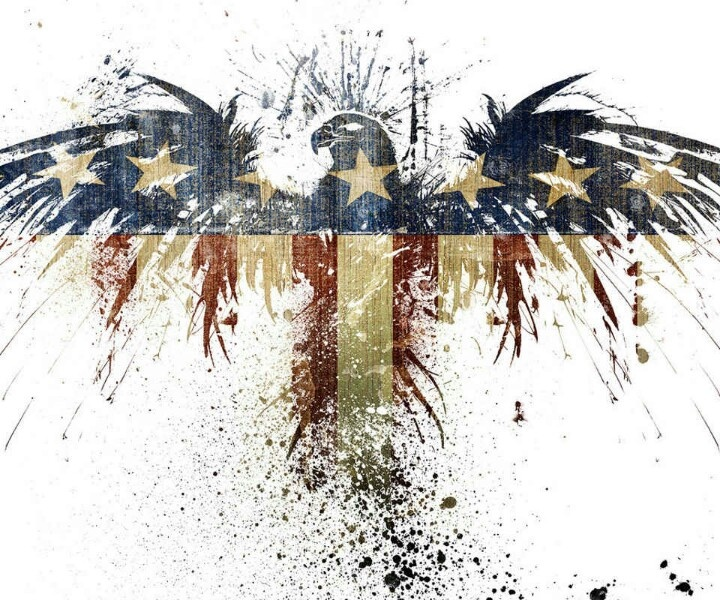 Eagle Splatter Tattoos