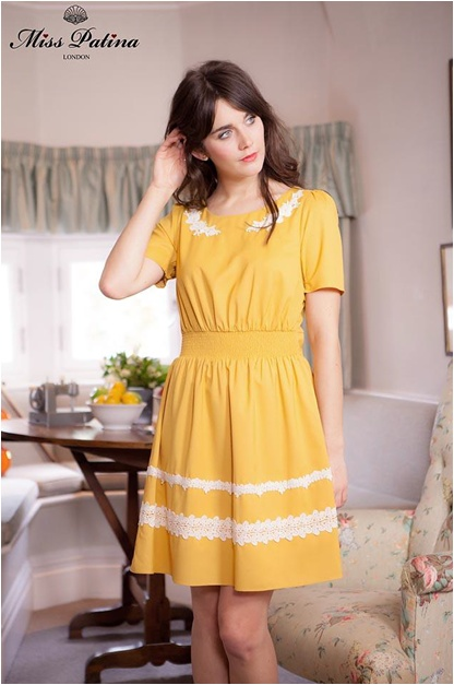 Edelweiss Dress in Mustard