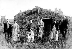 *Pioneer times...The Chrisman Sisters, 1887. They were homesteaders in Nebraska (no men taking care of them!)