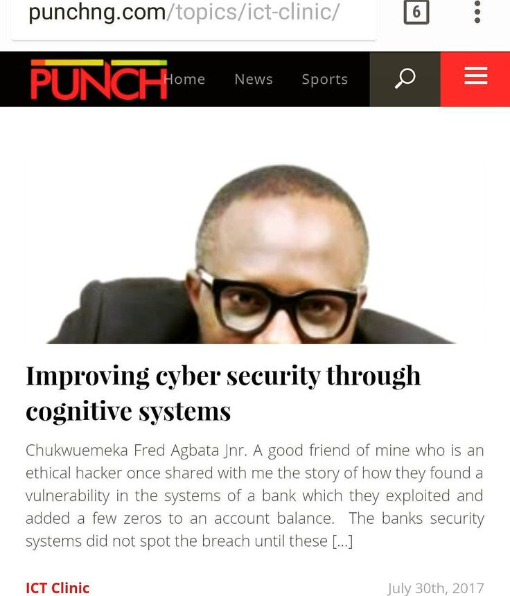 "So I was invited to join some bank executives for a one day exposition themed Defence In-depth with cognitive security organised by ActivEdge Technologies Limited and IBM both of which are leaders in the space.  My latest piece in the Punch Newspapers following that revealing event is titled ""Improving cyber security through cognitive systems"" -http://j.mp/2eYv7xj #cybersecurity #cognitive #artificialintelligence #ictclinic #punchnewspaper  Subscribe to Tech Trends Youtube channel…"