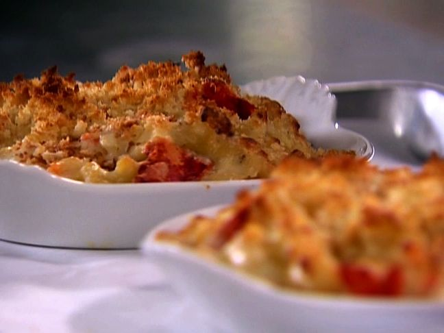 Lobster Mac and Cheese from Ina Garten.  I'm going to substitute a smoky cheddar for one of the cheeses and add some nice crisp pancetta and some leeks to the breadcrumbs.