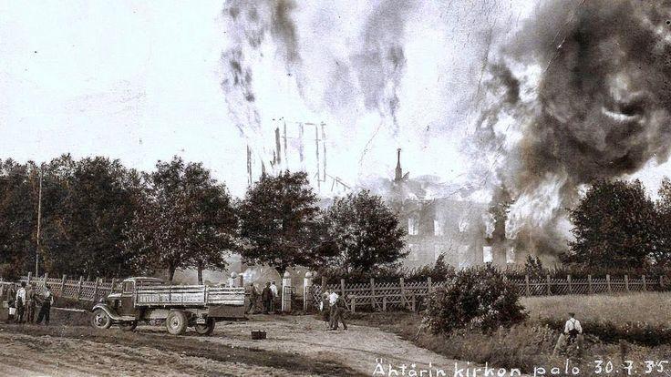 Ähtärin historiaa - 1935 paloi Ähtärin vanha kirkko.