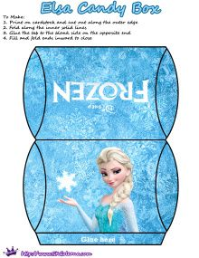 Elsa Candy Box | Free Printables for the Disney Movie Frozen | SKGaleana