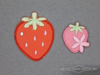 Girls applicatie set aardbeien