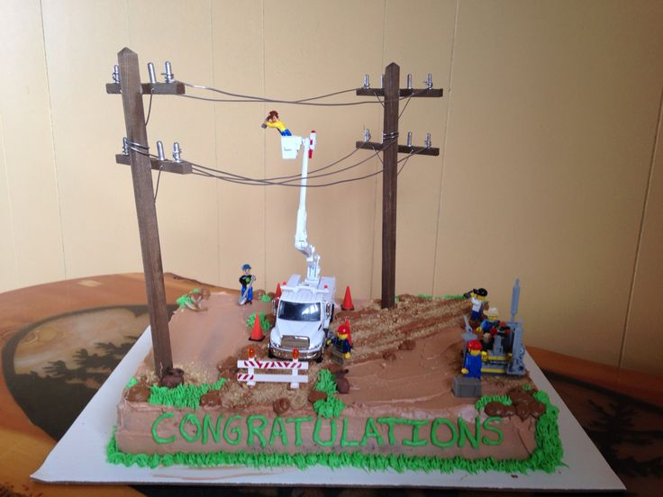 power lineman wedding cake topper 17 best images about lineman graduation cakes amp ideas on 18705