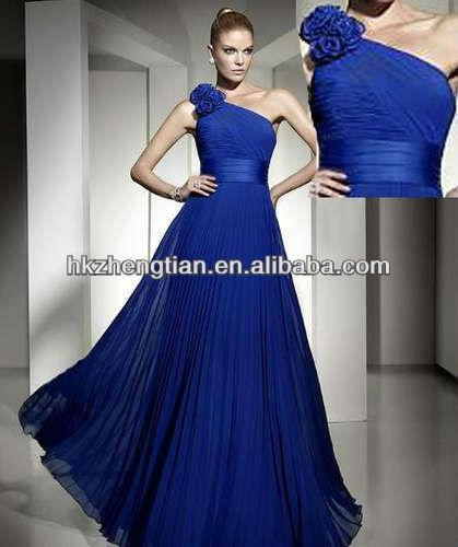2013 elegante novia vestidos de noche de gasa de cuentas fiesta formal vestido de gala