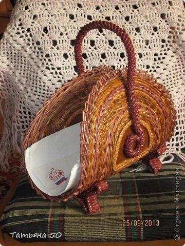 Поделка изделие Плетение Немного наплелось Трубочки бумажные фото 1