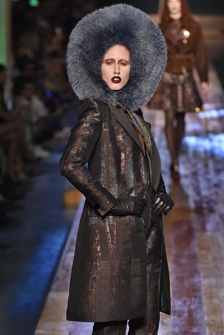 Jean Paul Gaultier, Paris.  #fur #fashion #hautecouture #AW16