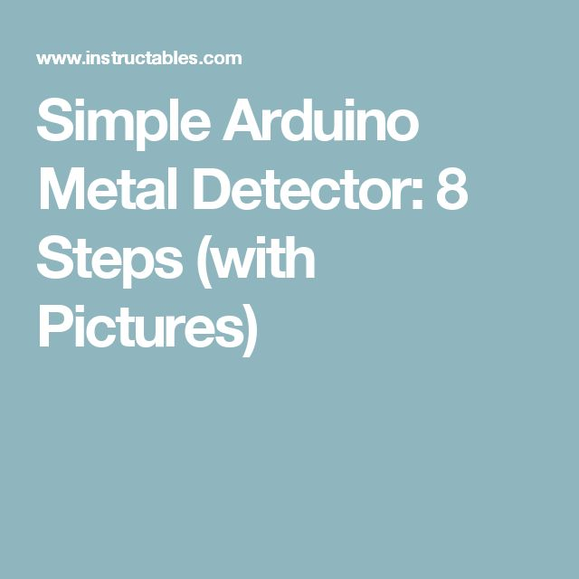 how to make a simple metal detector