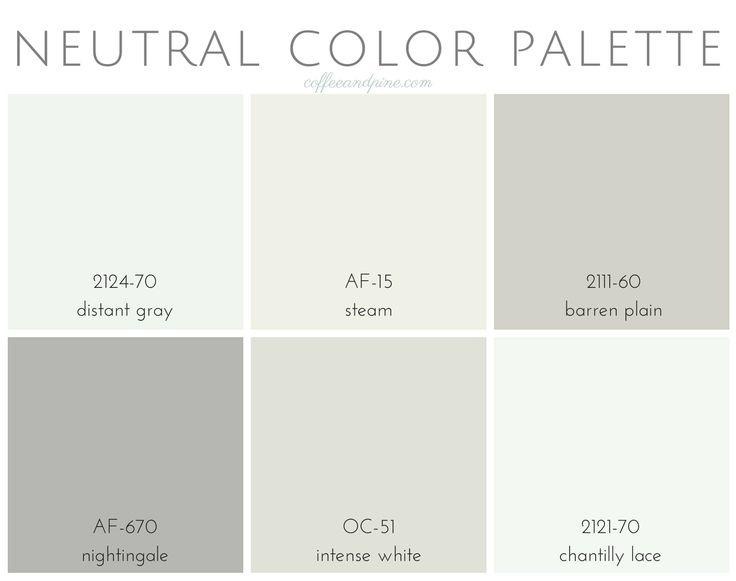 Neutral Color Palette In 2019 Paint Colors Neutral