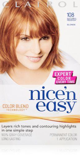 Clairol Nice N Easy Hair Color 108 Natural Reddish Blonde