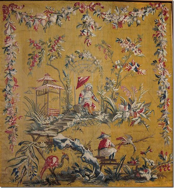 An museum owed original tapestry by Jean-Baptiste Pillement.