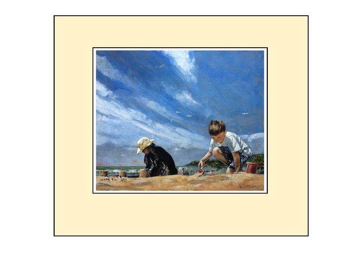 My children on Woolacombe Beach