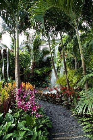 20+ maravilhosas idéias de paisagismo tropical para jardim   – Outside Things