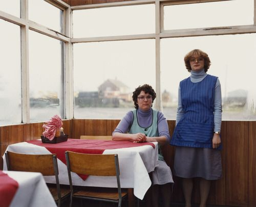 """Paul Graham, Cafe Assistants, Compass Cafe, Colsterworth, Lincolnshire, from """"A1: The Great North Road"""", November 1982"""