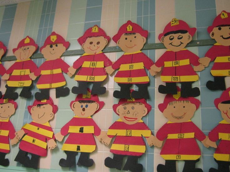 Fire Firefighter Craft Idea Fire Safety Week Projects