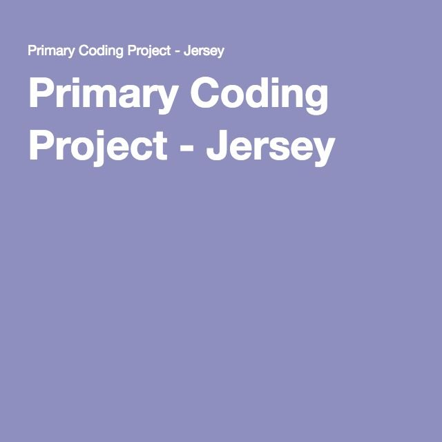 Primary Coding Project - Jersey