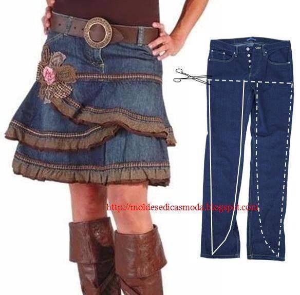 falda con holanes...
