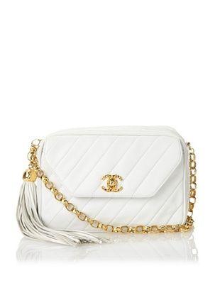 CHANEL Women's Chevron Chain Bag, White