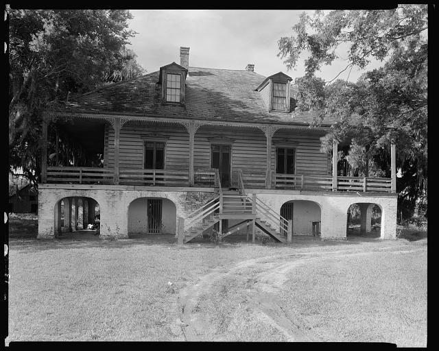 Lacoste Plantation House in 1938, St. Bernard Parish, Louisiana