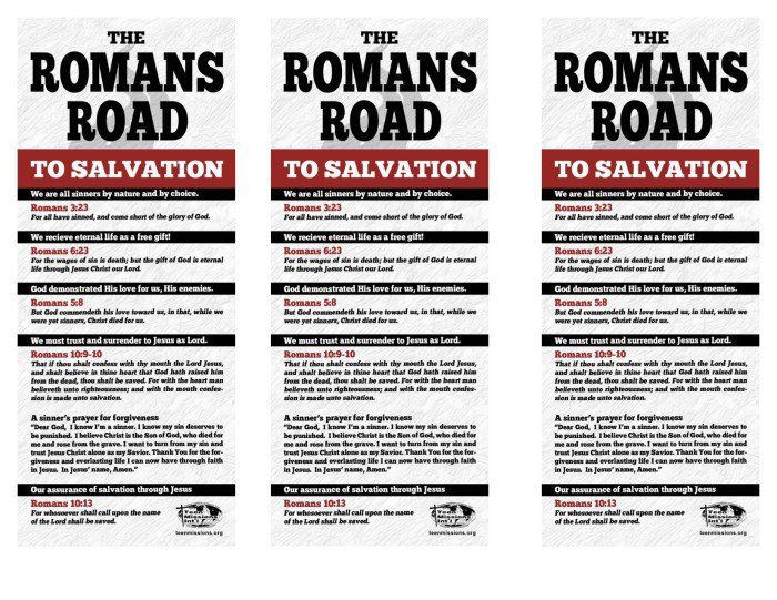 It is a photo of Modest Romans Road Printable