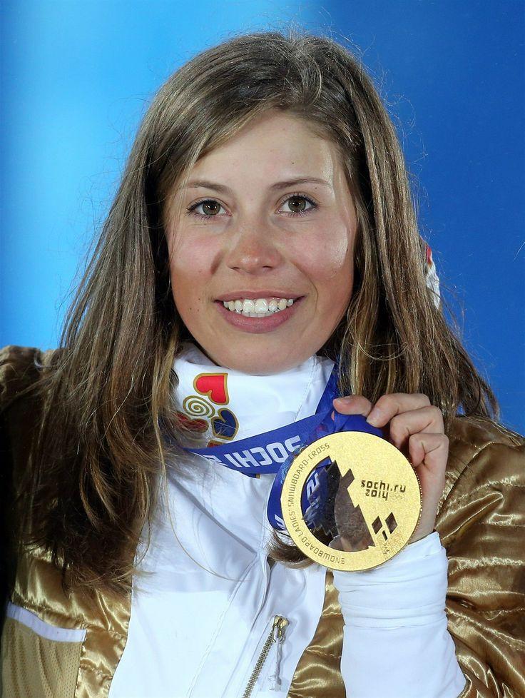 Eva Samková se zlatou medailí.