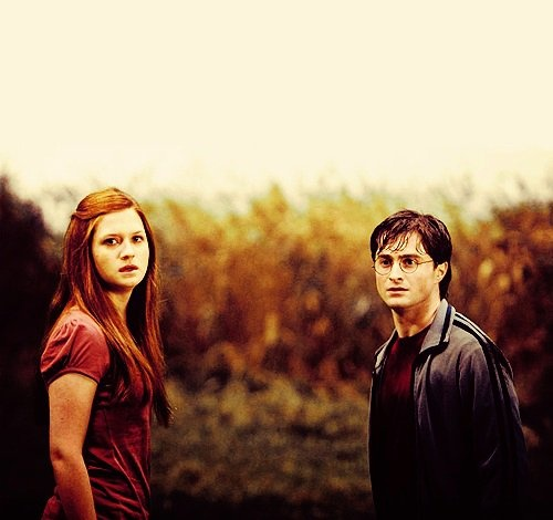 First we are going to start with Ginny- you go girl! You look great. Really taking on the dramatic girl role. And...Harry- Well... not so much.....look a little....devastated? Exasperated? Frustrated? What's the face for? Just, please don't use it in your acting. Please for me. I beg you.