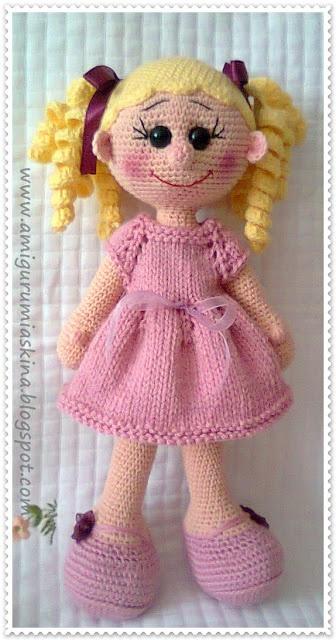 Amigurumi doll, Amigurumi and Dolls on Pinterest