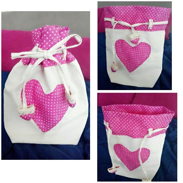 Cute little bag, drawsting bag, lunch bag, favor bag, souvenir bag.
