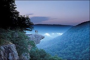 Whittaker Point, Arkansas--this rock makes me nervous ; )