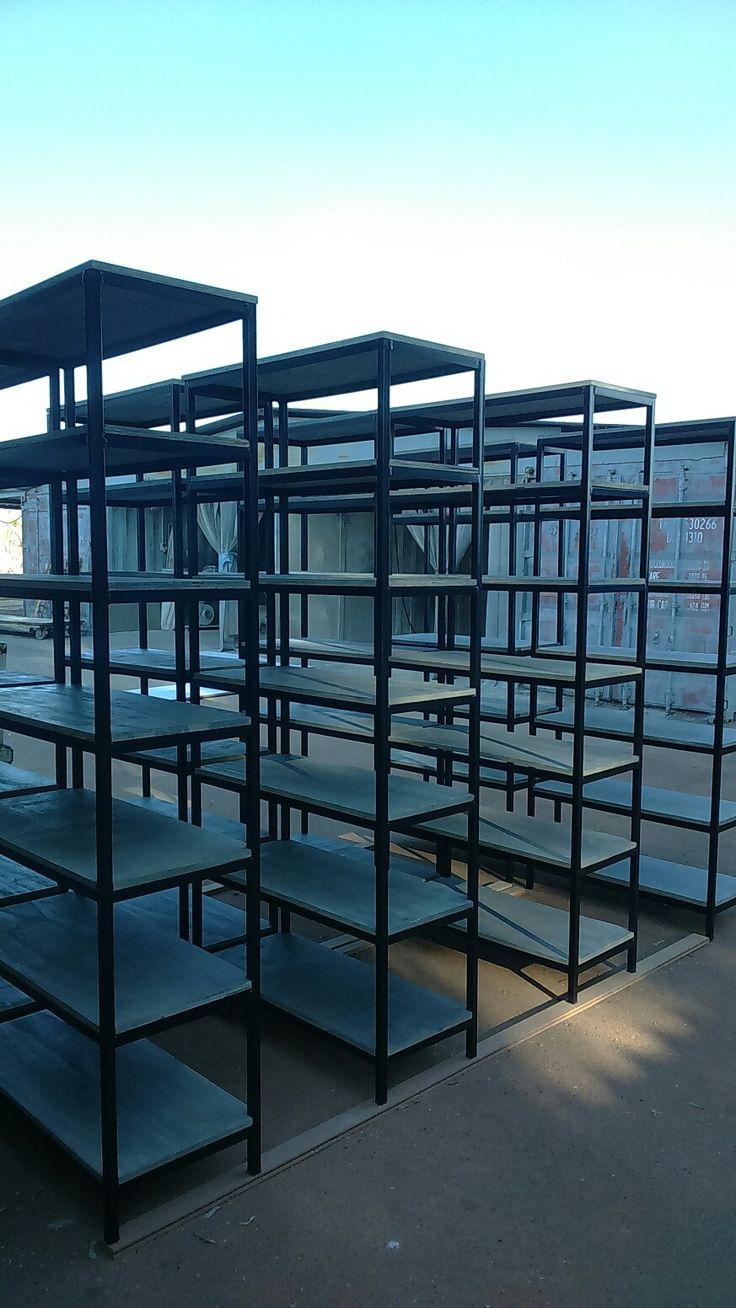 Industrial shelving, shop fitting, industrial furniture, industrial furniture Pretoria, industrial furniture Joburg. Shelves.