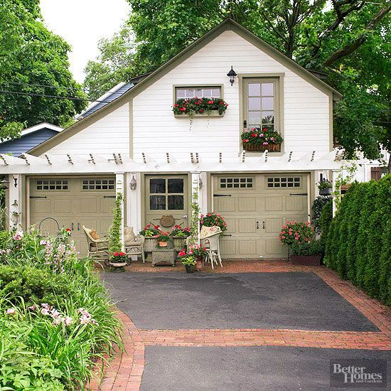1643 best curb appeal images on pinterest exterior homes for Garage door curb appeal
